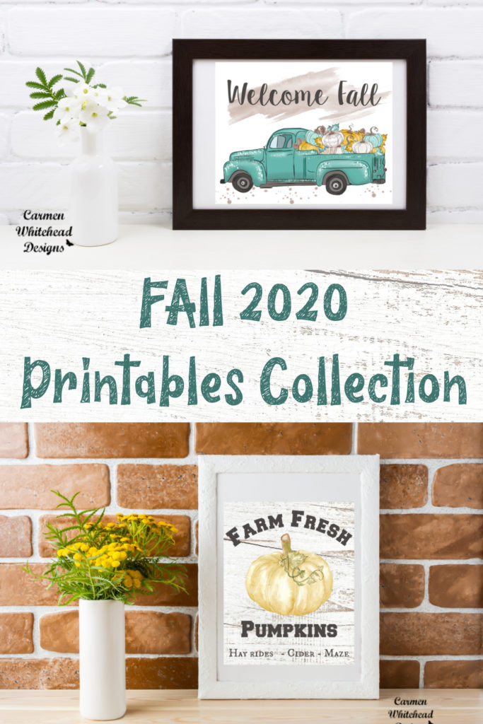 Fall 2020 Digital Downloads Collection by Carmen Whitehead