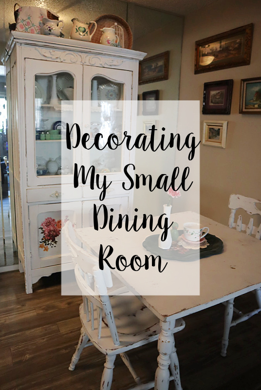 Decorating my Small Dining Room - Granny Chic by Carmen Whitehead
